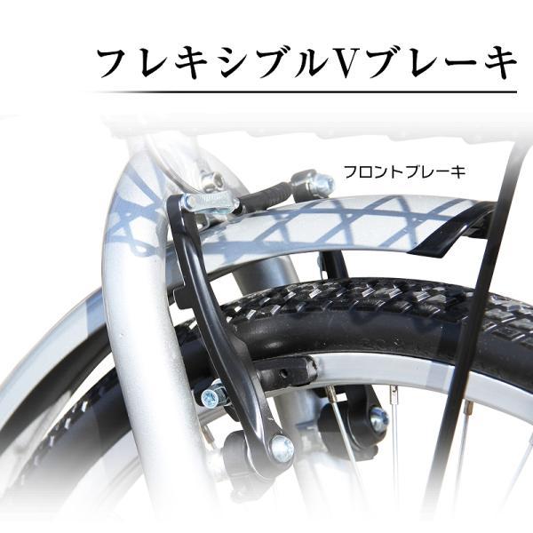 折りたたみ自転車 20インチ ノーパンクタイヤ カゴ付き シマノ6段ギア MOBI-CYCLE MB-05 自転車/折り畳み/カゴ付き|mobimax2|12