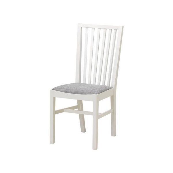 IKEA・イケア 椅子 チェア・ダイニングチェア NORRNAS チェア, ホワイト, イースンダ グレー (001.853.05)