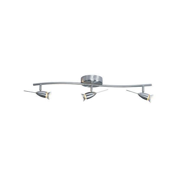 IKEA・イケア 照明・ランプ HUSINGEシーリングトラック スポットライト3個, ニッケルメッキ(002.629.16)