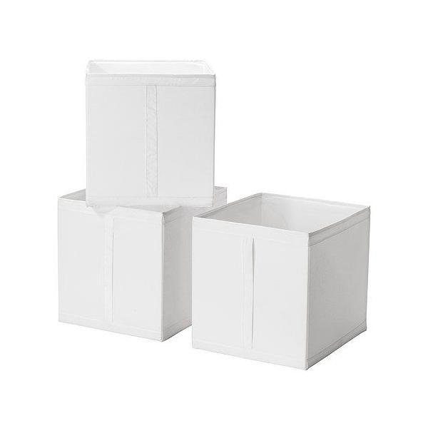 IKEA・イケア 衣類収納・収納ボックス SKUBB(スクッブ) ボックス, ホワイト/3ピース (101.863.90) moblife