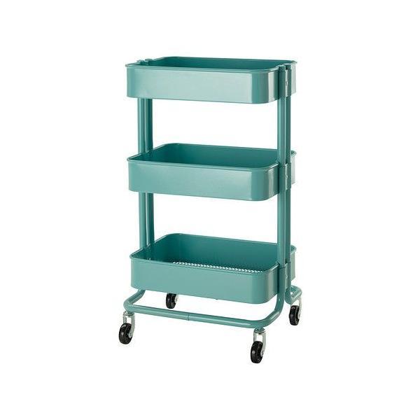 RoomClip商品情報 - ロースコグ キッチンワゴン IKEA・イケア RASKOG ターコイズ ( 102.165.37 )