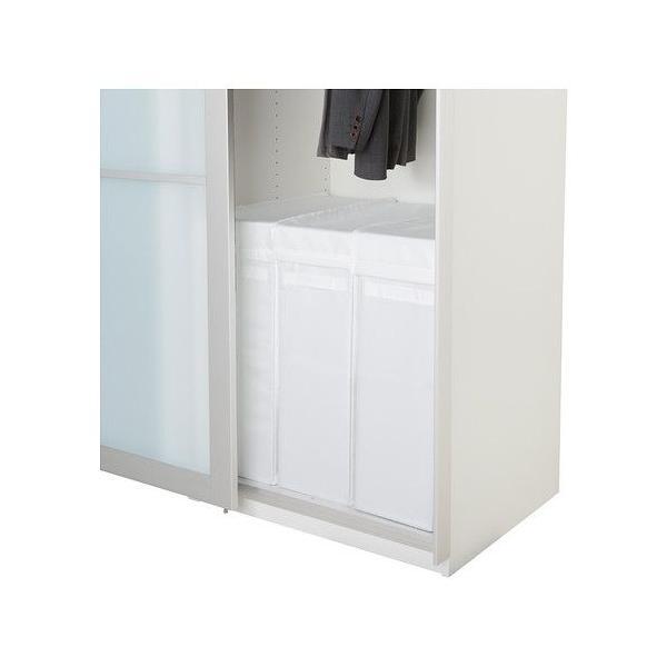 IKEA 衣類収納 SKUBB(スクッブ) ランドリーバッグ スタンド付き, ホワイト (102.240.47)|moblife|02