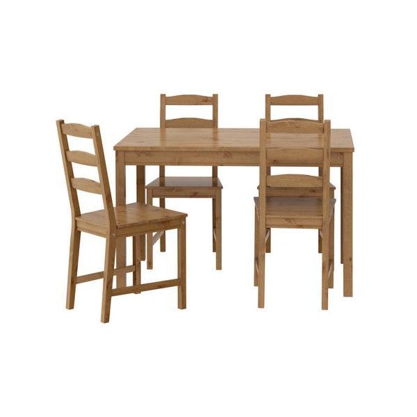 ダイニングセット IKEA・イケア JOKKMOKK テーブル&チェア4脚, アンティークステイン(603.658.03)