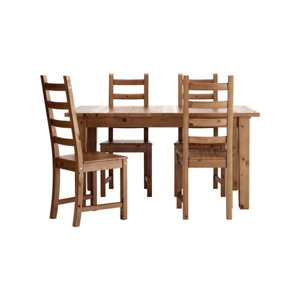 ダイニングテーブルセット IKEA・イケア リビングダイニングセット STORNAS / KAUSTBYテーブル&チェア4脚, アンティークステイン(298.856.41)|moblife