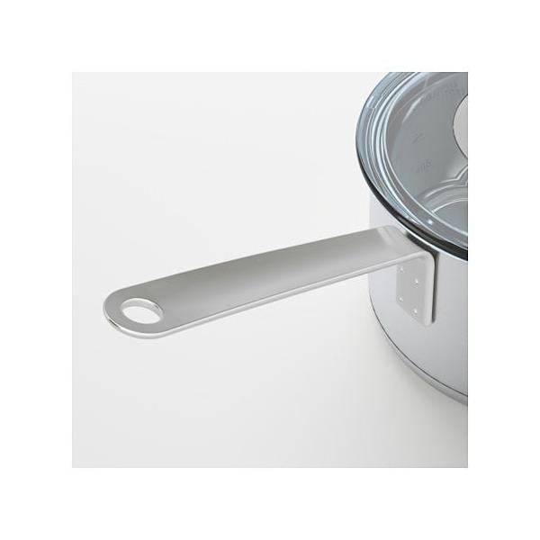 IKEA・イケア IKEA 365+ 片手鍋 ふた付き, ステンレススチール, ガラス (302.567.49)|moblife|05