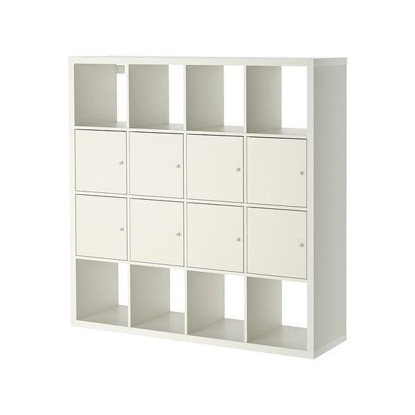 イケア IKEA 棚 書棚 本棚 収納 KALLAX  シェルフユニット インサート8個付き (691.975.65) moblife