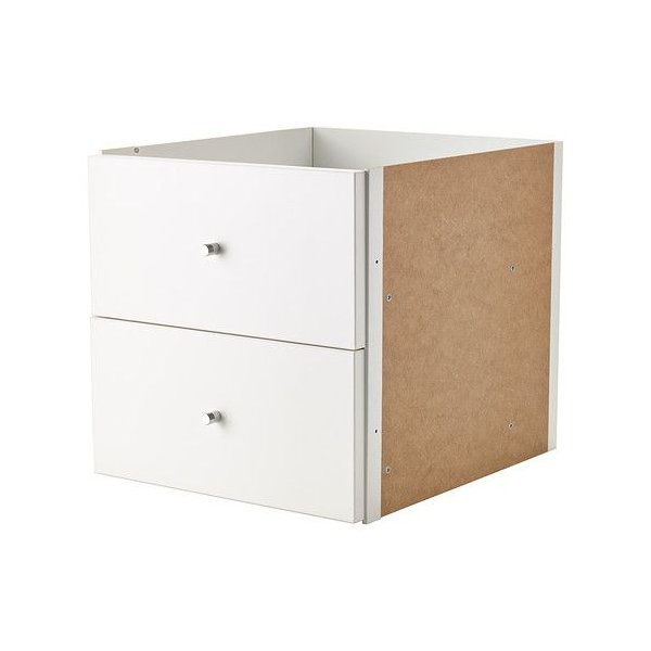 IKEA・イケア 書棚・本棚 KALLAX (カラックス)   インサート 引き出し2段, ホワイト, 33x33 cm (203.518.79)
