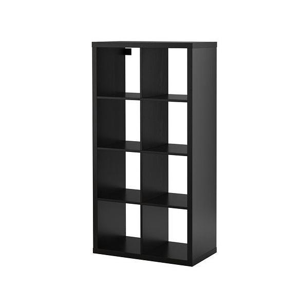 イケア・IKEA 棚 書棚・本棚 KALLAX (カラックス)  シェルフユニット, ブラックブラウン(703.518.91)