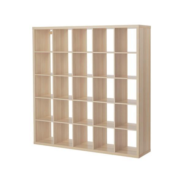 IKEA イケア 棚 書棚 本棚 KALLAX  シェルフユニット, ホワイトステインオーク調 (303.629.19) moblife