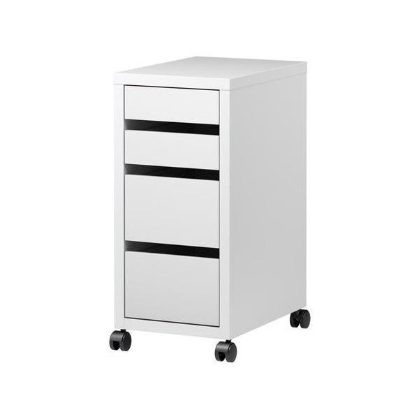 IKEA・イケア MICKE(ミッケ) 引き出しユニット キャスター付き, ホワイト(403.542.83)