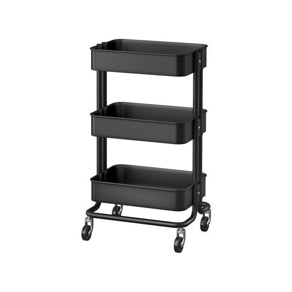 IKEA・イケア キッチンワゴン RASKOG ブラック(703.339.77)