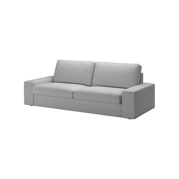 大人気 3人掛けソファ ソファ IKEA・イケア ソファ KIVIK 3人掛けソファ, オッルスタ ライトグレー, 180x85 cm