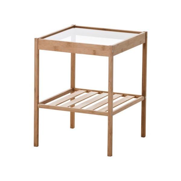 イケアネスナサイドテーブルガラスIKEANESNA幅36cm奥行き35cm高さ45cm