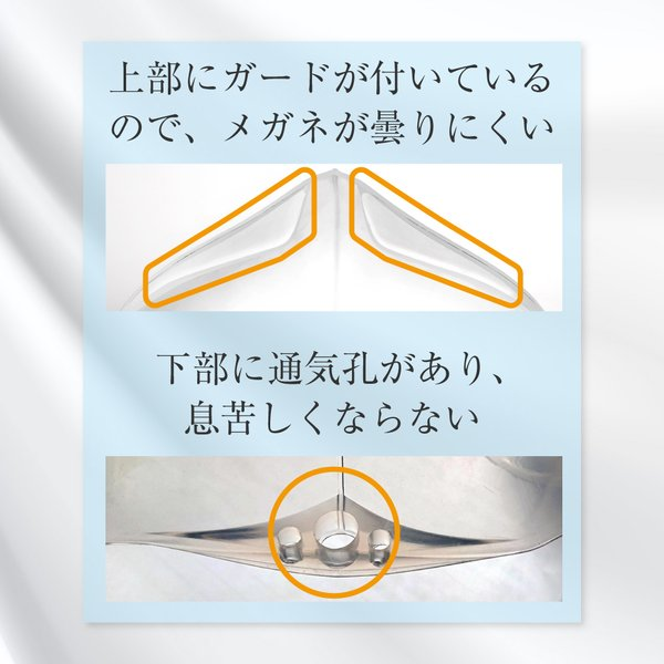 SHOW ME クリア 新商品! マスク 透明 シリコン製 メガネが曇りにくい 冷感 衛生マスク 飛沫対策 感染予防 医療 接客 顔が見える 日本製 メール便 即納 1枚 mochiagirlstore 05