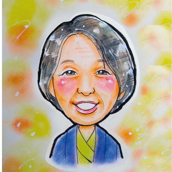 似顔絵色紙 長寿のお祝い お誕生日|mocoro