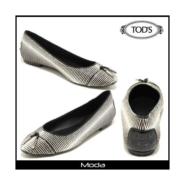 TOD'Sトッズ --バレリーナシューズ ボーダー