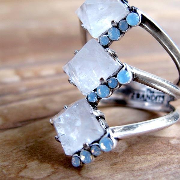 リング/指輪 レディース THE2BANDITS ザトゥーバンディッツ トリプルプリズム・リング(シルバー) 天然石 クリスタル