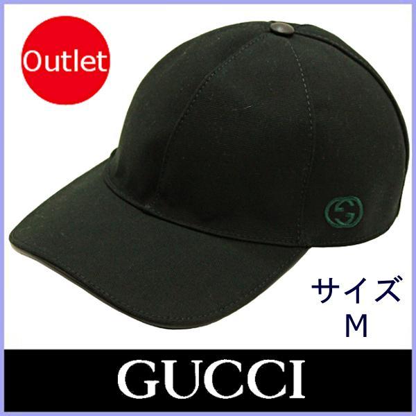 5d3955342825 グッチ GUCCI キャップ ベースボールキャップ メンズ レディース 帽子 黒/ブラック サイズM 387554 アウトレット