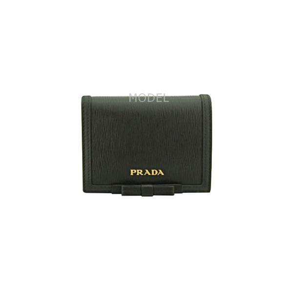 8a66eca5e0d6 ... プラダ PRADA 財布 レディース 二つ折り財布 新作 黒/ブラック リボン 1MV204 アウトレット ...