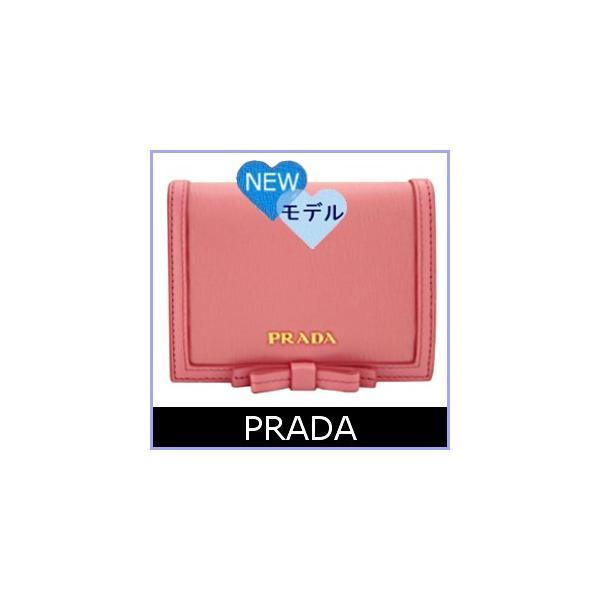 super cute 7f077 b3445 プラダ PRADA 財布 新作 レディース 二つ折り財布 ピンク リボン ...