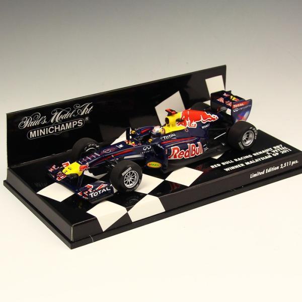 1/43 ミニチャンプス ルノー RED BULL RACING RENAULT RB7 Winner Malaysian GP 2011