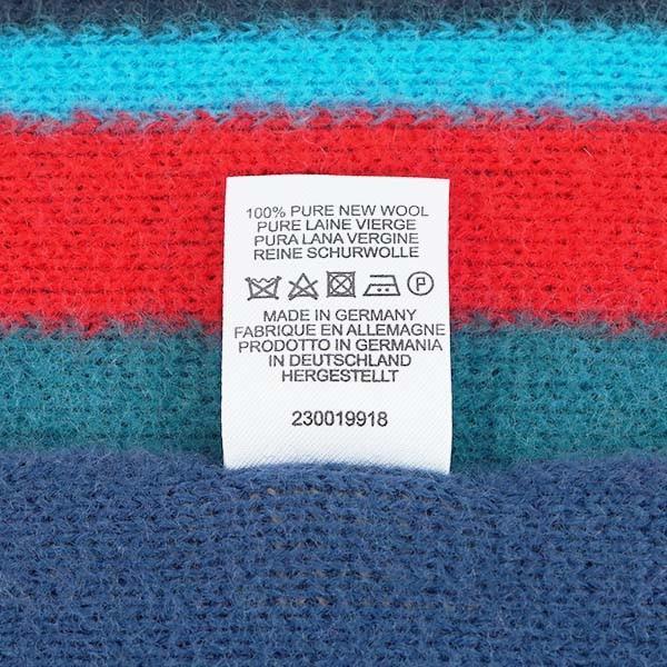 ≪期間限定セール≫PAUL SMITH ポールスミス M1A 355E AS10 マフラー 47 BL ブルー  s2633-4-462-82-0355-0-73