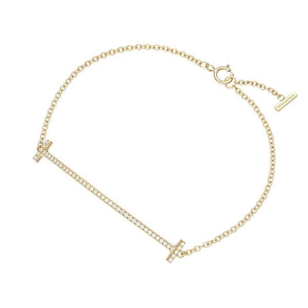 【期間限定セール】ティファニー TIFFANY&CO 36667222 Tiffany T スマイル ブレスレット ミディアム 18KYG×ダイアモンド 16cm  z1686-abtf00705l