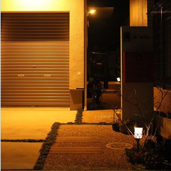 ソーラーライト レトロランプ 2個セット/ソーラーライト ガーデンライト ポールライト アンティーク|modest|05
