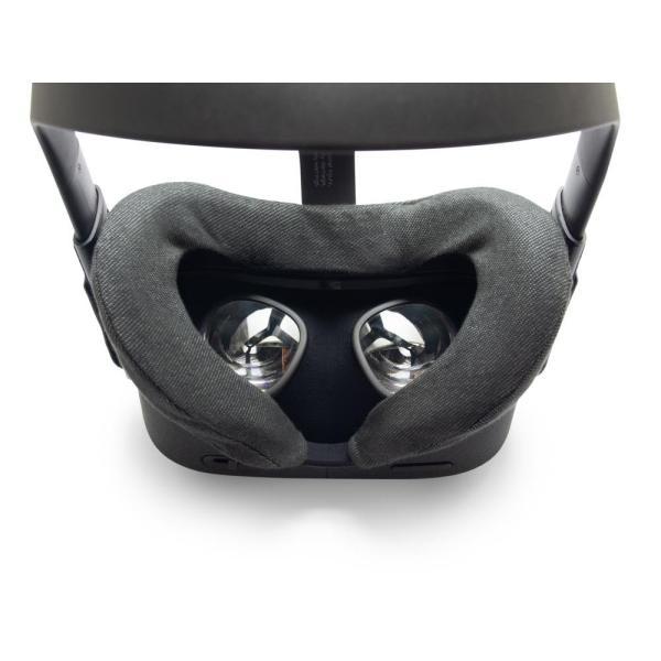 VRカバー Oculus Quest用 ノーマルタイプ2枚セット 綿100% 濃紺色 洗濯可能|moguravrstore|02
