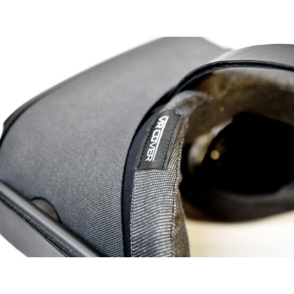 VRカバー Oculus Quest用 ノーマルタイプ2枚セット 綿100% 濃紺色 洗濯可能|moguravrstore|13