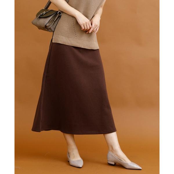 裏起毛 スカート あったか ロングスカート 裏起毛ウォームストレッチロングスカート|moha|12