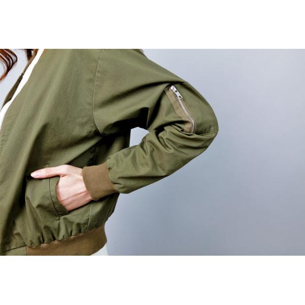 ベーシックショルダージップMA-1ブルゾン レディースジャケット MA-1ジャケット moha 10