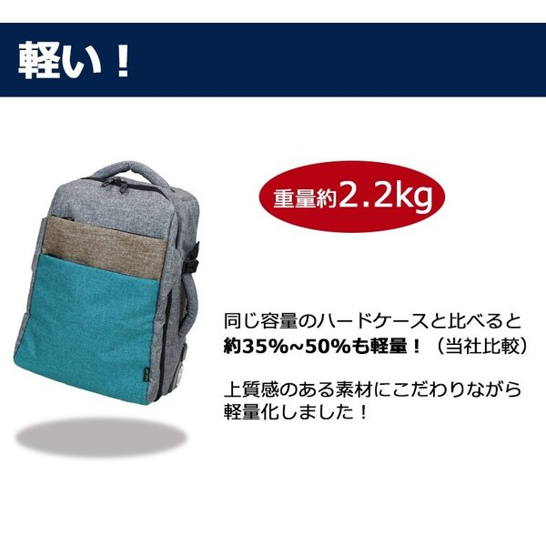 キャリーバッグ 機内持ち込み 軽量 スーツケース キャスター付き リュック ソフトキャリーバッグ ソフトスーツケース 防災 避難 非常用|moierg|12