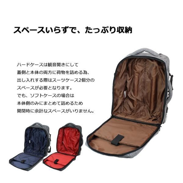 キャリーバッグ 機内持ち込み 軽量 スーツケース キャスター付き リュック ソフトキャリーバッグ ソフトスーツケース 防災 避難 非常用|moierg|20