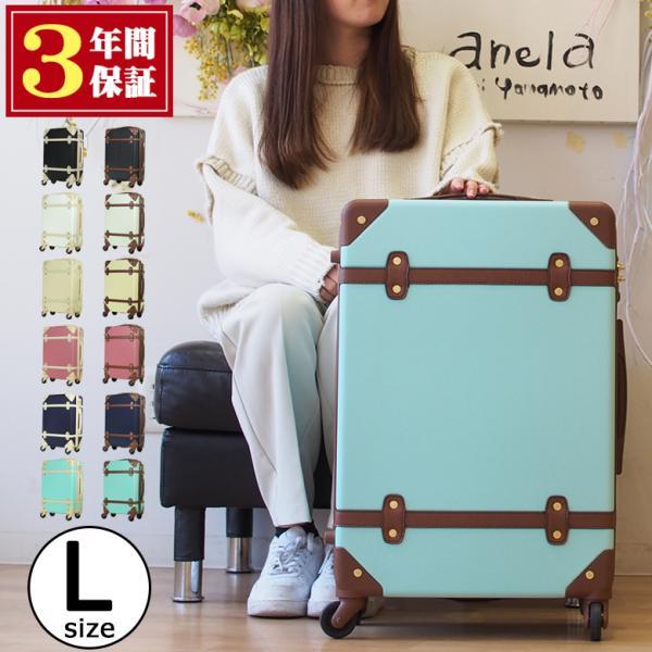 キャリーケース L スーツケース かわいい おしゃれ キャリーバッグ 大型 おすすめ 軽量 人気