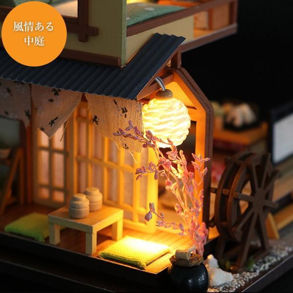ドールハウス ミニチュア 手作りキット セット 風情のある 和風 シリーズ 和 日本 初心者向け LEDライト + 工具セット 付 ( 軽井沢の別荘 ) moin-moin 03