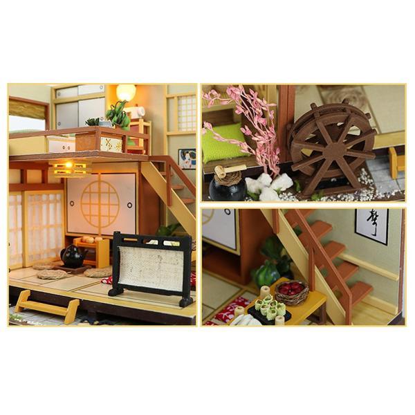 ドールハウス ミニチュア 手作りキット セット 風情のある 和風 シリーズ 和 日本 初心者向け LEDライト + 工具セット 付 ( 軽井沢の別荘 ) moin-moin 06