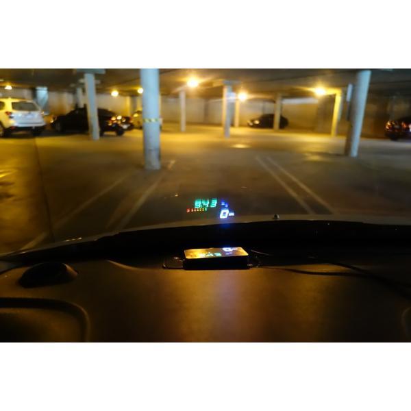HUDネオトーキョー GPS-03 ヘッドアップディスプレイ シガーソケット スピードメーター 時計表示 3.5インチ 日本語説明書|moji|05
