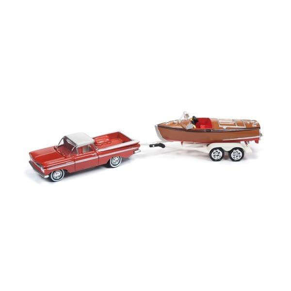 Johnny Lightning Truck /& Trailer JLBT007 1965 Chevy Pickup  W// Trailer Ver B