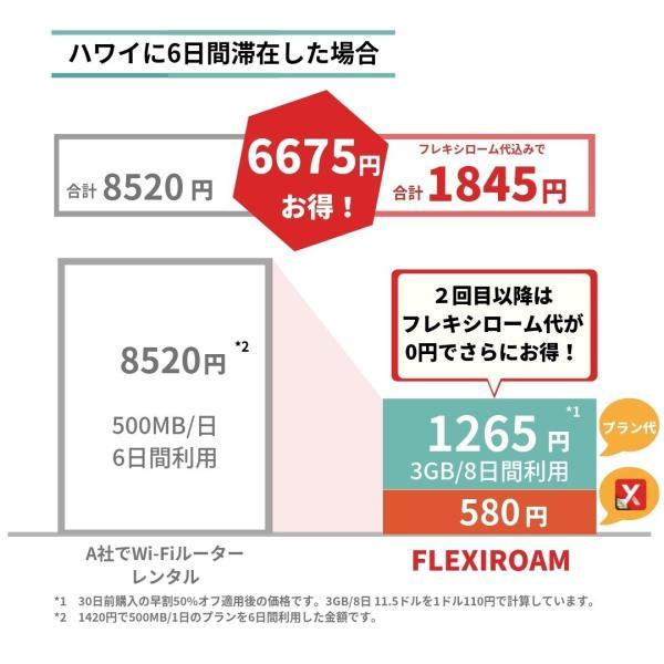 海外 プリペイドSIM カード 格安 1Gで420円〜 日本でもそのまま使える 世界120ヵ国対応 貼るSIM 旅行 ビジネス FLEXIROAMX|mokku-shop|05