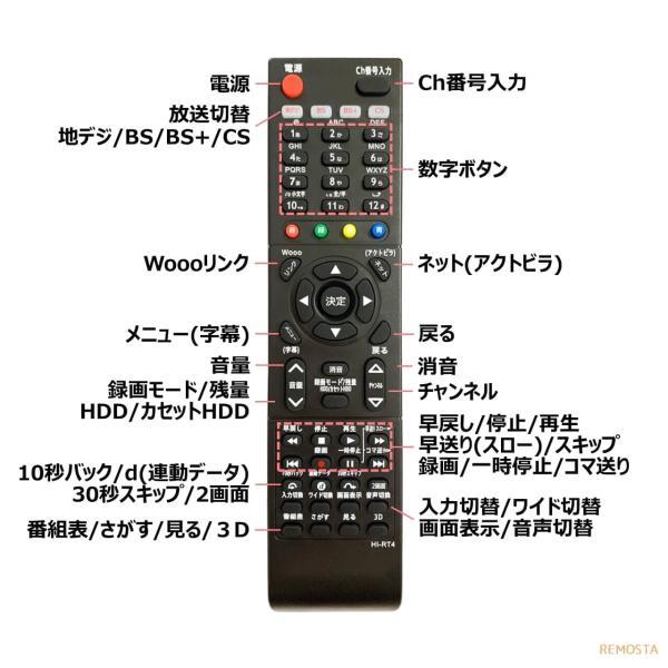 日立 Wooo テレビ リモコン C-RT4 C-RT6 C-RT7 C-RT1 C-RS4 C-RS5 C-RS1 C-RS3 C-RT2 C-RT3 HITACHI 代用リモコン リスタ|mokku-shop|05