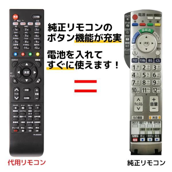 パナソニックテレビリモコンビエラN2QAYB000324TH-L20X1-HTH-L17X1-HTH-L17X10PSTH-L1