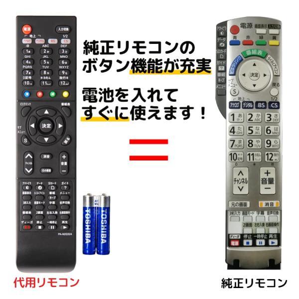 パナソニックテレビリモコンビエラ電池付きN2QAYB000324TH-L26X1-KTH-L26X1HTTH-L32G1TH-L