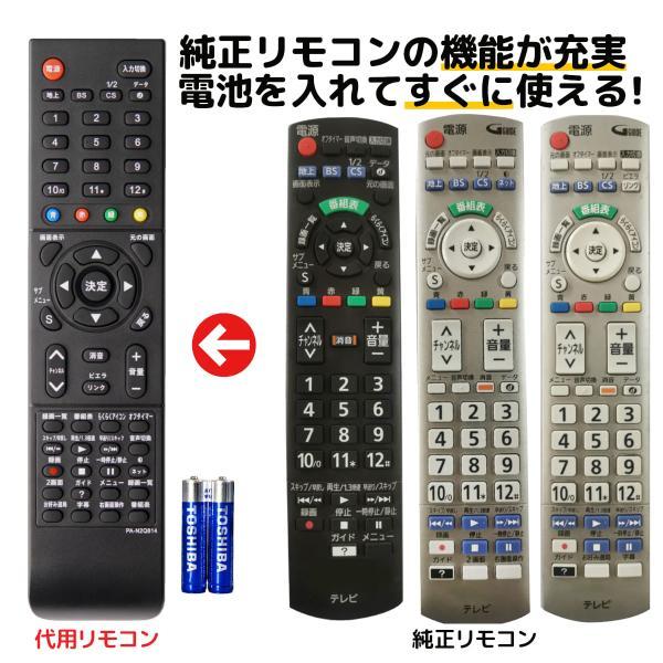 パナソニックテレビリモコンビエラ電池付きN2QAYB000814N2QAYB000721N2QAYB000720Panasoni