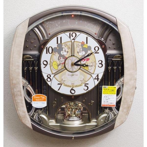 1ad44589be ... セイコー ディズニータイム 掛け時計 ミッキー&フレンズ 電波時計 ツイン・パ ...