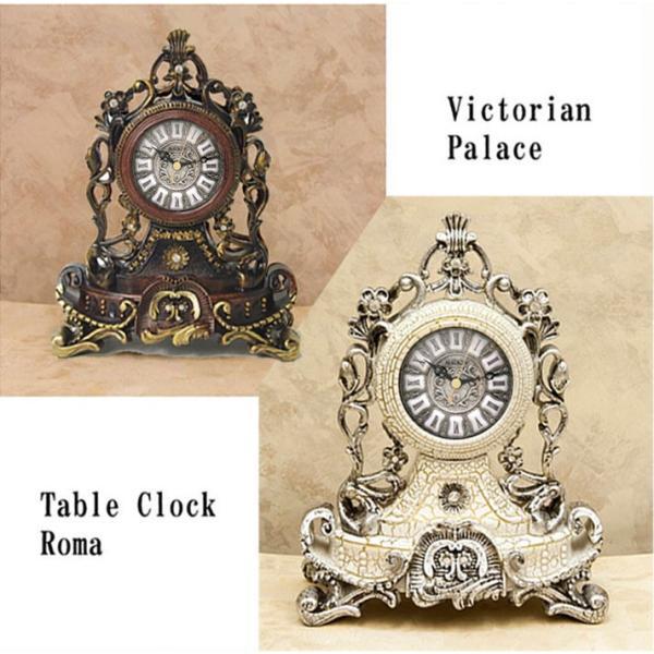 送料無料 新型 秒針付 置時計 ビクトリアンパレス テーブルクロック Roma ローマ 2色展開 VP070681BR VP070698WH 乾電池付