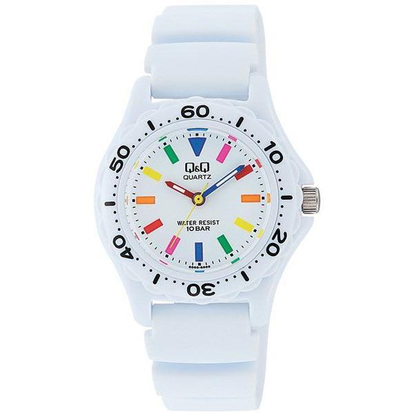 【メール便 送料無料】シチズン  Q&Q 腕時計 スポーツタイプ アナログ 10気圧防水 ホワイト VR25-002 レディース