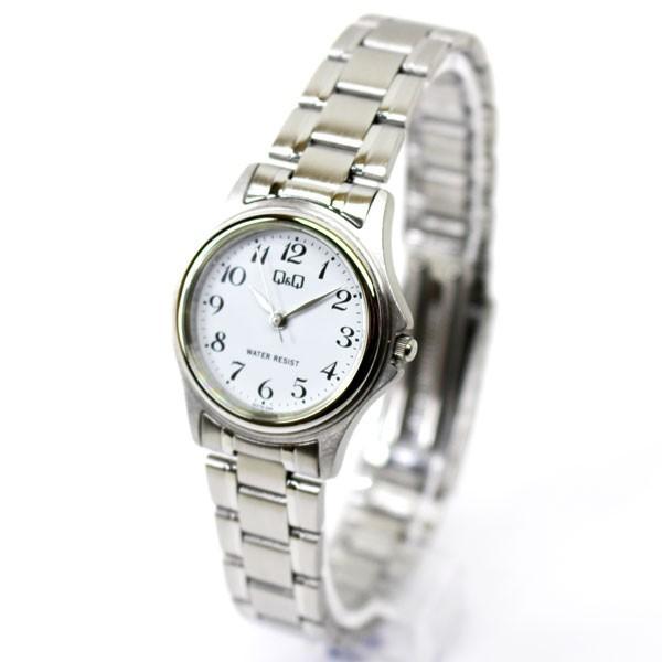 【メール便 送料無料】シチズン Q&Q 腕時計 ステンレス ブレスレット アナログ ホワイト W379-204 レディース