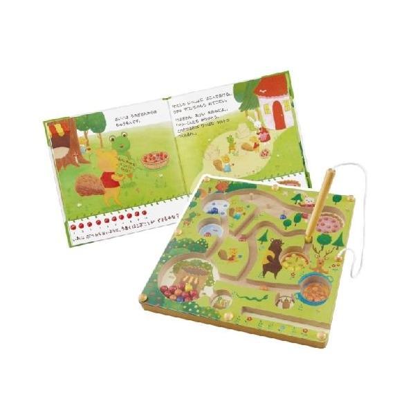ベリーくんのきのみやさん 絵本 木のおもちゃ 知育玩具 2歳 3歳 4歳 誕生日 プレゼント|mokuguru