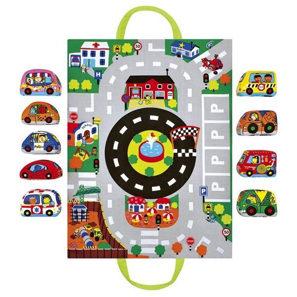 カーズ・イン・タウン ケーズキッズ 車 布おもちゃ 出産祝い 1歳 2歳 誕生日 プレゼント|mokuguru|02